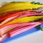 Rainbow swiss chard with sweet potatoes