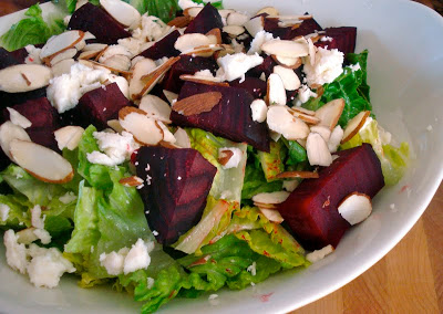 Romaine Salad with Beets, Feta & Almonds