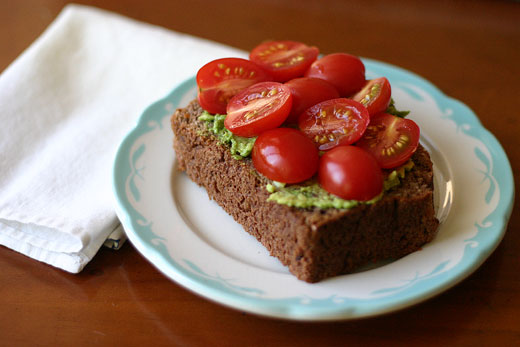 Open faced gluten free sandwich