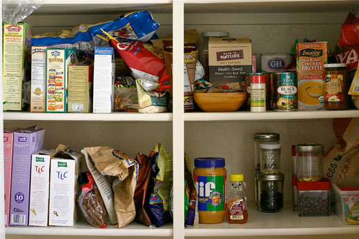 making a gluten-free pantry