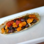 black bean sweet potato taco
