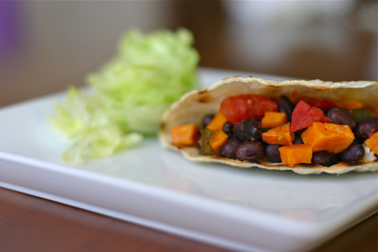 sweet potato black bean taco