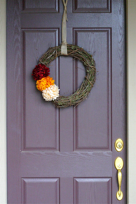 fall wreath hanging
