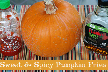 Sweet & Spicy Pumpkin Fries from InspiredRD.com