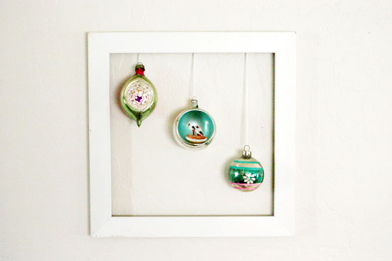 vintage ornament display