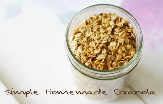 simple homemade gluten free granola recipe