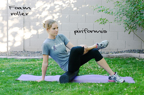 foam rolling the piriformis