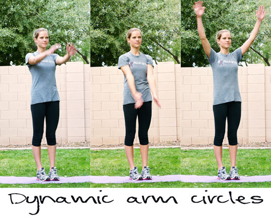 dynamic warmup arm circles