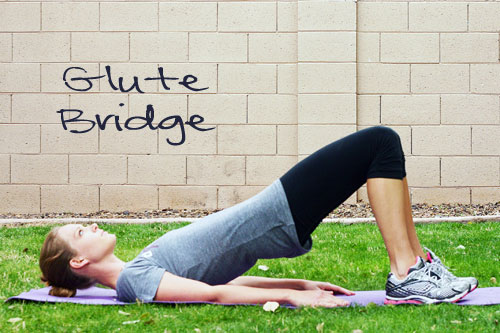 glute bridge core exercise