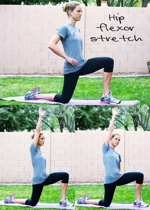 kneeling hip flexor stretch progression