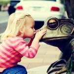 kissing a frog
