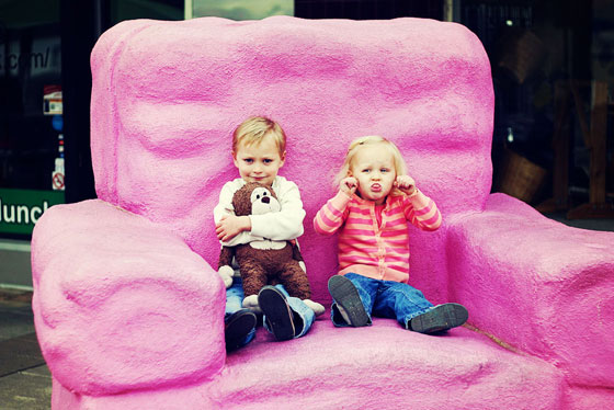 giant pink chair