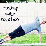 pushup with rotation