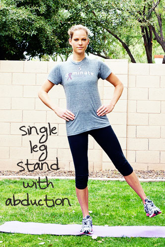 single leg stand with abduction