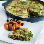 frittata and fruit