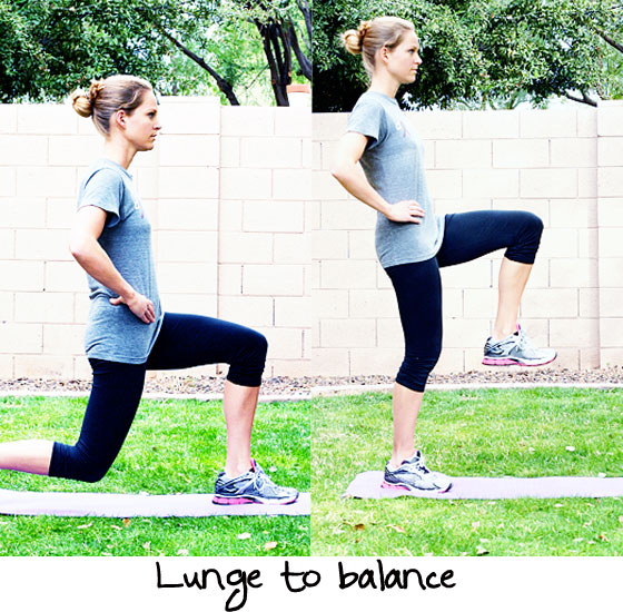 lunge to balance