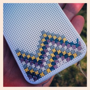 cross stitch ipod case