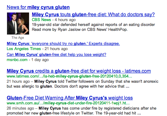 miley cyrus gluten free google search