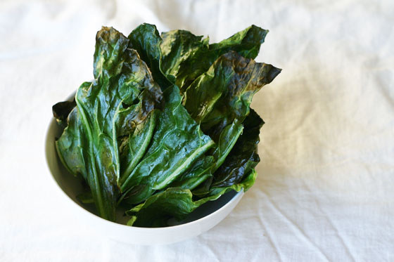 collard green chips