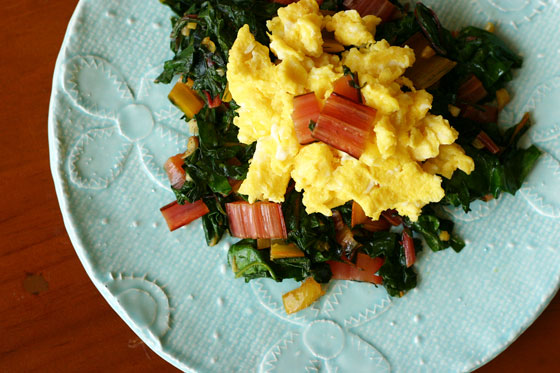 eggs and swiss chard recipe