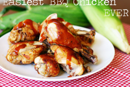 Easiest BBQ Chicken Ever from InspiredRD.com
