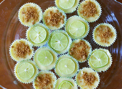 Mini Key Lime Pies - Gluten Free and Dairy Free from InspiredRD.com