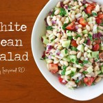 White Bean Salad - A perfect no-cook summer meal from Inspired RD
