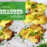 Crispy Smashed Potatoes via InspiredRD.com #glutenfree