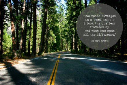 The Road Less Traveled via InspiredRD.com