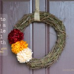 How to make a simple fall wreath (no glue gun required) via InspiredRD.com