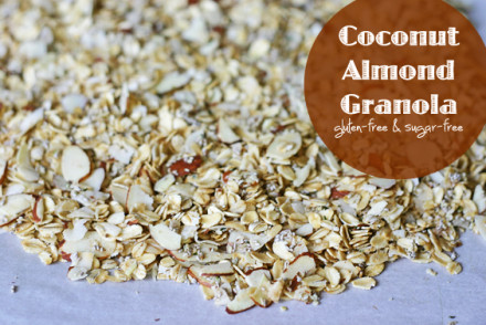 Coconut Almond Granola from www.InspiredRD.com (gluten-free and sugar-free)