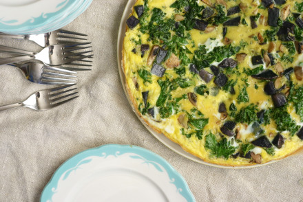 Easy & Delicious Veggie Frittata from InspiredRD.com