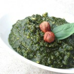 Hazelnut Basil Pesto from InspiredRD.com #glutenfree #dairyfree