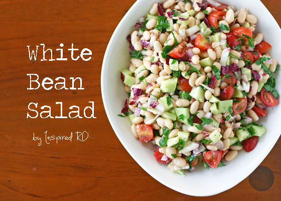 White Bean Salad from InspiredRD.com