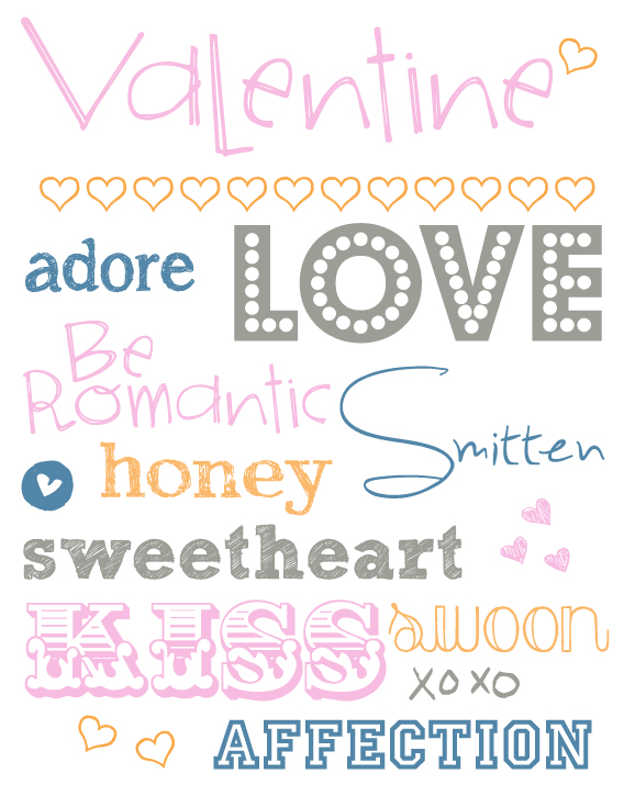 Free Valentine Printable (plus links to 10 free fonts!) | InspiredRD.com