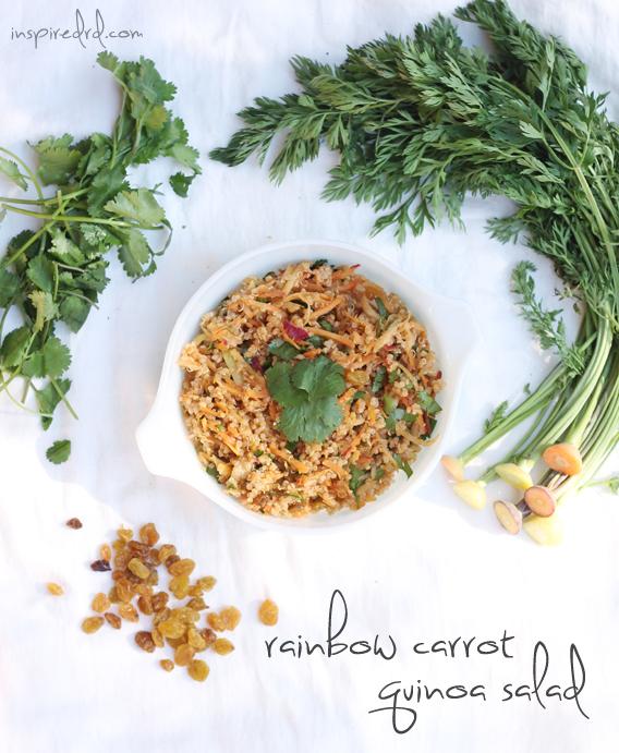 Rainbow Carrot Quinoa Salad via InspiredRD.com