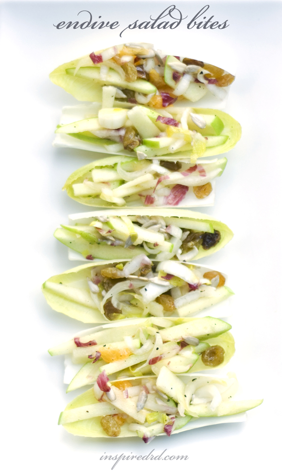 Endive Salad Bites by InspiredRD.com