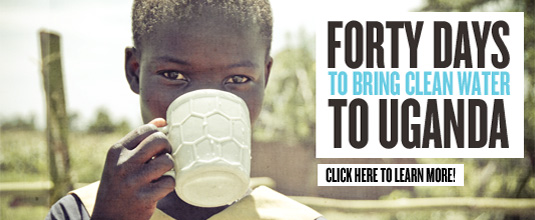 Join the 40 Days of Water Challenge with Blood:Water Mission and InspiredRD.com