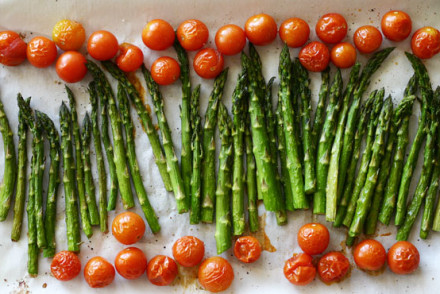 Roasted Asparagus & Cherry Tomatoes - InspiredRD.com