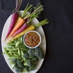 Almond Butter + Sriracha = Best Ever Veggie Dip from InspiredRD.com