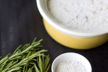 Meyer Lemon & Rosemary Infused Salt by InspiredRD.com