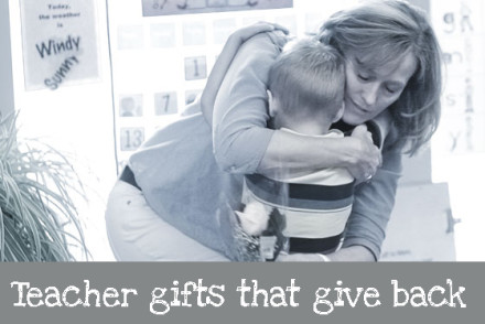 Teacher Gifts that Give Back via InspiredRD.com