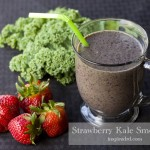 Strawberry Kale Smoothie via InspiredRD.com