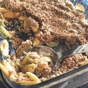 We already made a quick apple crisp. Because yum.