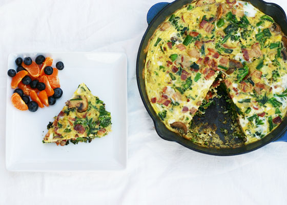 Frittata with Fruit - Quick and Easy breakfast from InspiredRD.com