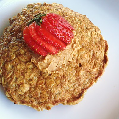Oatmeal Pancake - Quick and Easy breakfast from InspiredRD.com