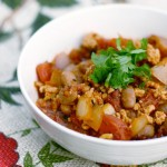 Easy Turkey Chili by InspiredRD.com #glutenfree