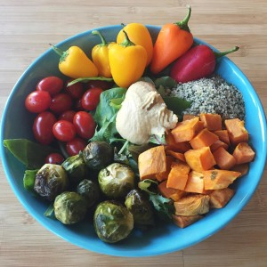 The nourish bowl is back! Greens mini bell peppers grapehellip
