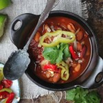 Fire Roasted Slow Cooker Chili (Gluten Free & Vegan) from Beard & Bonnet