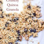 Crunchy Quinoa Granola with walnuts, cherries and coconut. #glutenfree